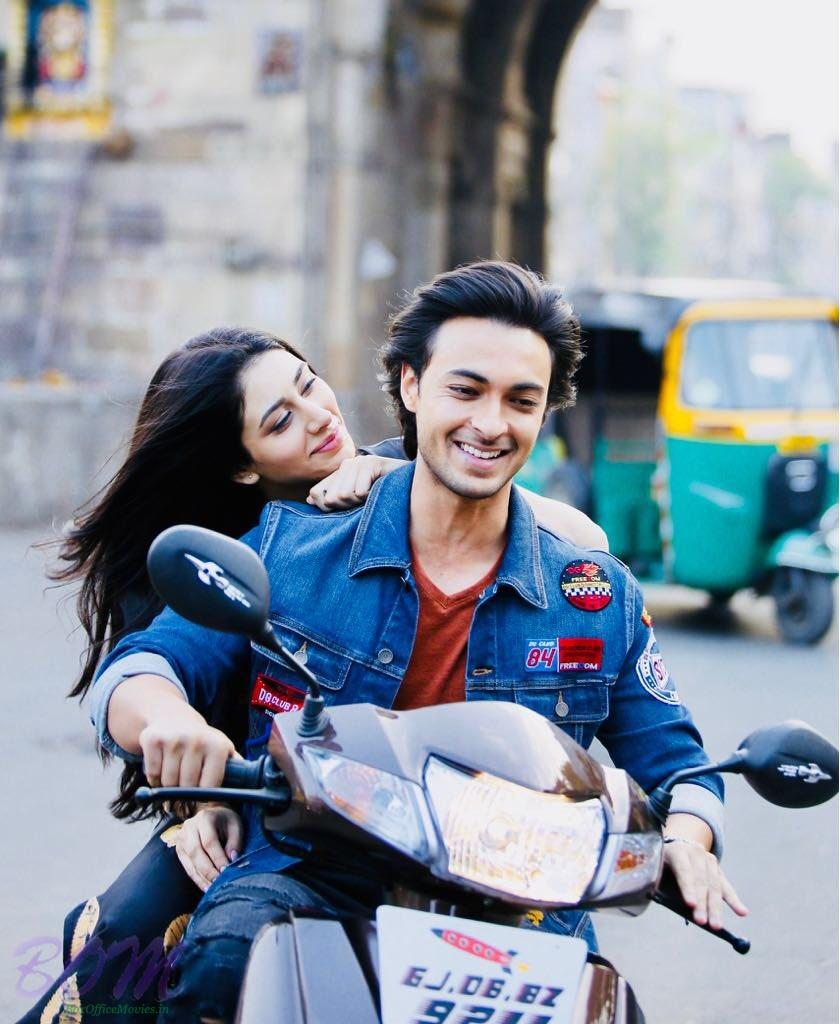 Aayush Sharma and Warina Hussain romantic pic from Loveratri movie