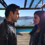 MR X Emraan Hashmi and Amyra Dastur rehearsing a love scene under the gaze of Vikram Bhatt in CAPE TOWN.