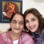 Madhuri Dixit with her Mother