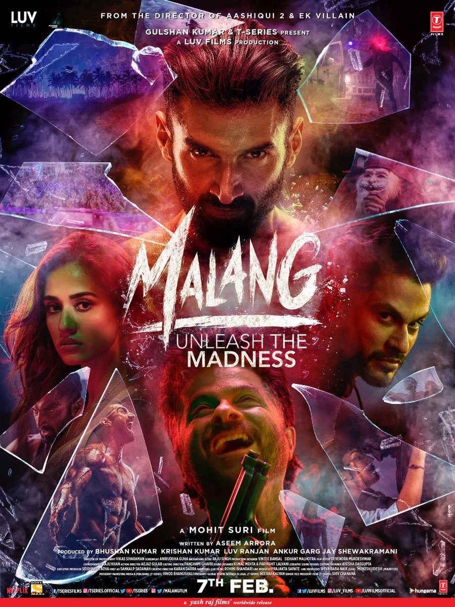 Malang Movie Poster With Release Date Confirmed 7 Feb 2020 Photo Disha Patni And Anil Kapoor Starrer Malang With Kunnal Khemmu Picture