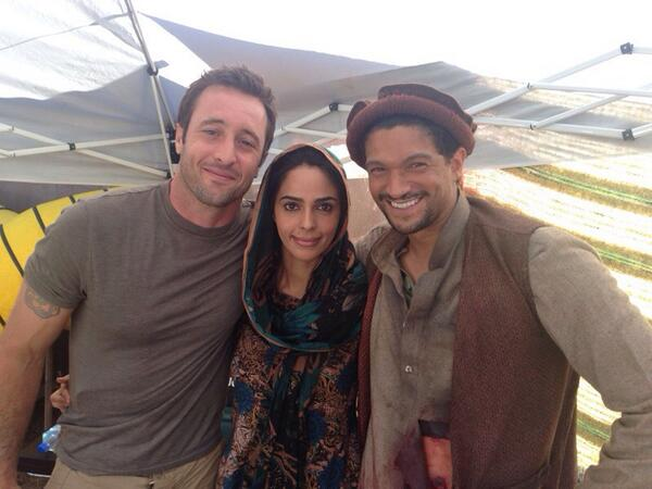Mallika Sherawat ‏is now days Shooting for Hawaii Five O wt costars Alex Loughlin and Mido Hamada