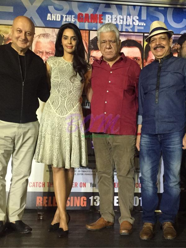 Mallika Sherawat at the promo launch of her upcoming film dirty politics with Om Puri, Anupam Kher, Naseerudin Shah and others.
