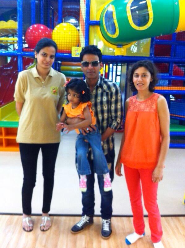 Manoj Bajpayee wife Shabana & daughter Ava having a fun Sunday morning