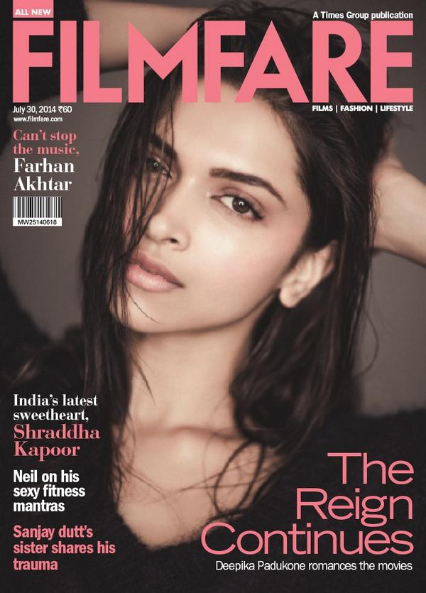 Meet the reigning woman Deepika Padukone in the brand new issue of Filmfare magazine issue 30 Jily 2014