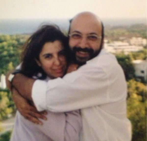 Mickey Contractor with Farah Khan