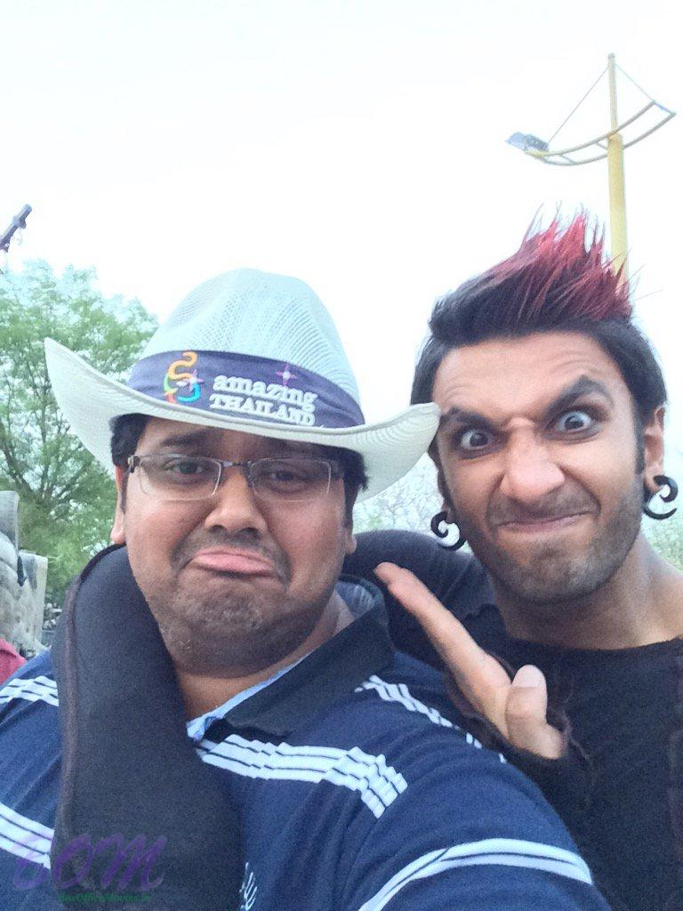 Milap Zaveri fun time with Ranveer Singh on Ranveer Ching Returns set