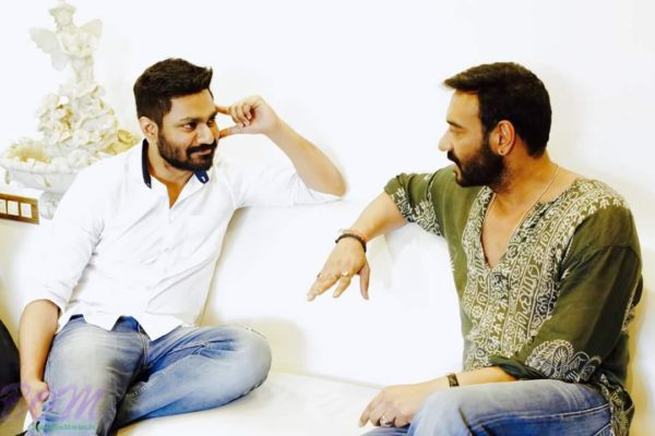 Music Director Mithoon in a discussion with Ajay Devgn for SHIVAAY