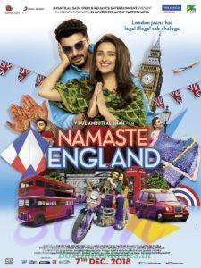 Namaste England movie poster starring Arjun Kapoor and Parineeti Chopra