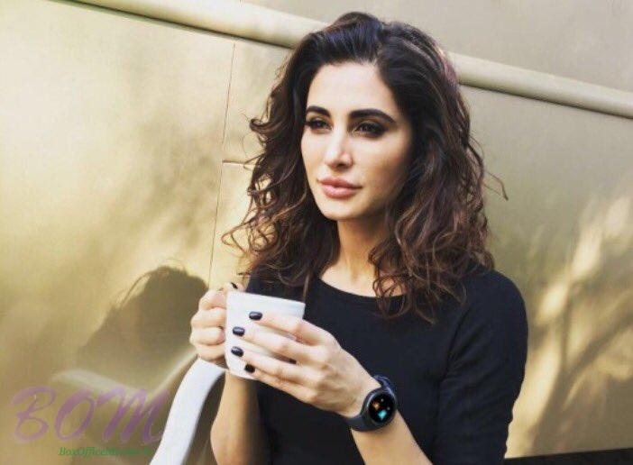 Nargis Fakhri enjoying a hot cup of coffee