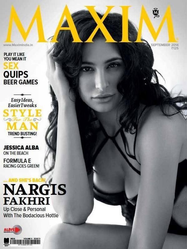 Nargis Fakhri on cover page of Maxim magazine issue Sep 14