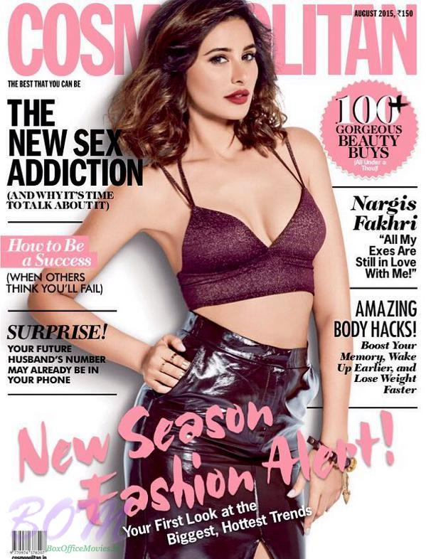 Nargis Fakhri on the cover page of COSMOPOLITAN magazine August 2015 issue