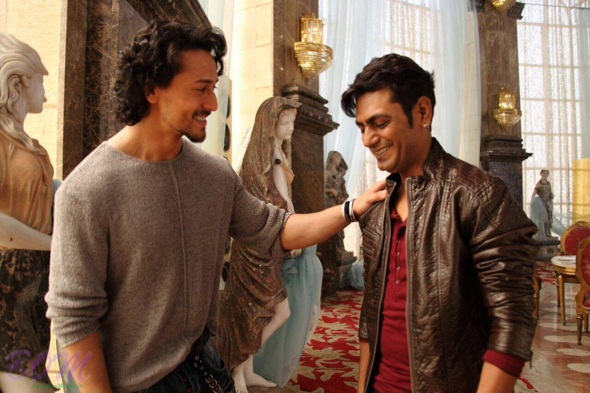 Nawazuddin Siddiqui new look with Tiger Shroff on the sets of Munna Michael movie