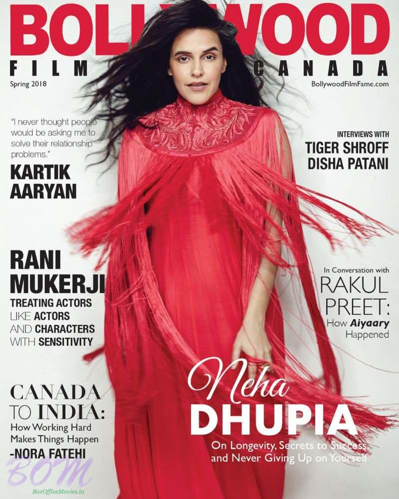 Neha Dhupia cover girl for Bollywood Filmfame Canada Magazine