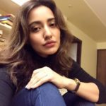 Neha Sharma Blue jeans black shirt selfie