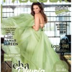 Neha Sharma green cover girl for Fablook mag