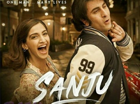 New Poster of SANJU with Ranbir and Sonam