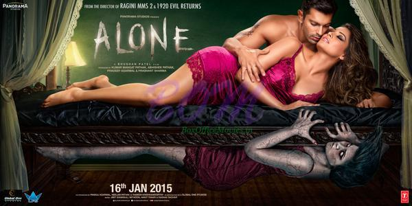 New spine-chilling poster of Alone movie released on 5 Jan 2015