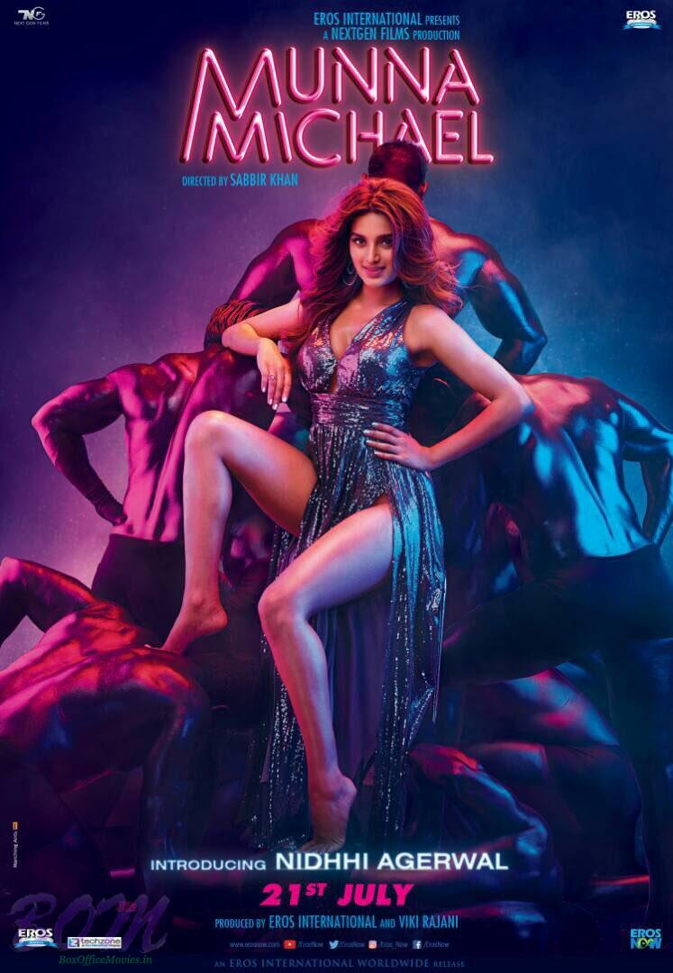 Niddhi Agerwal starrer poster of Munna Michael movie