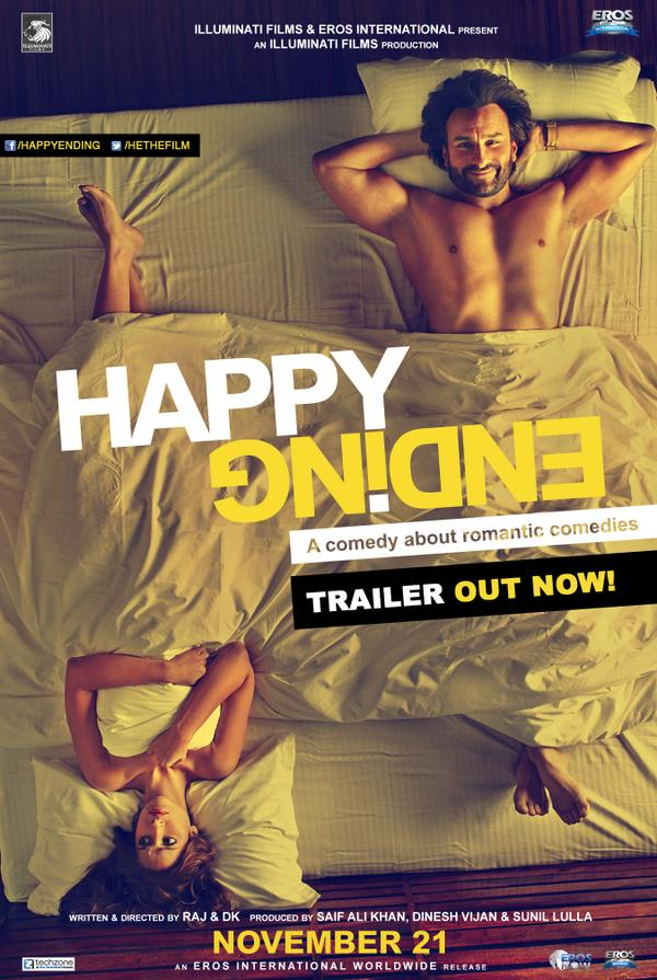 Official 2nd poster of Happy Ending ft. Saif Ali Khan & Ileana D'Cruz