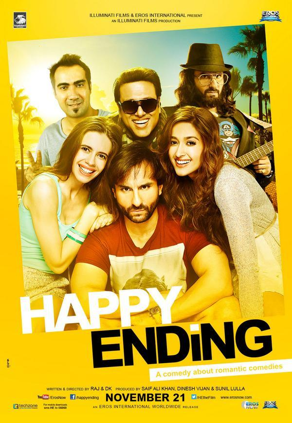 Official Poster of upcoming Happy Ending ft. Saif Ali Khan, Ileana D'Cruz, Kalki Kanmani, Govinda, Ranvir Shorey