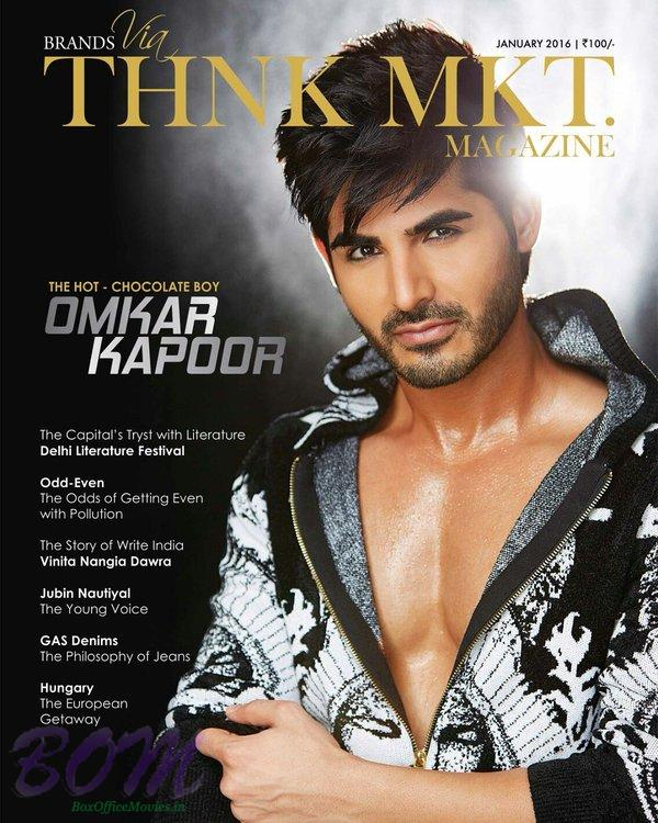 Omkar Kapoor debut as Cover Page boy with THNK MKT Magazine Jan 2016 issue