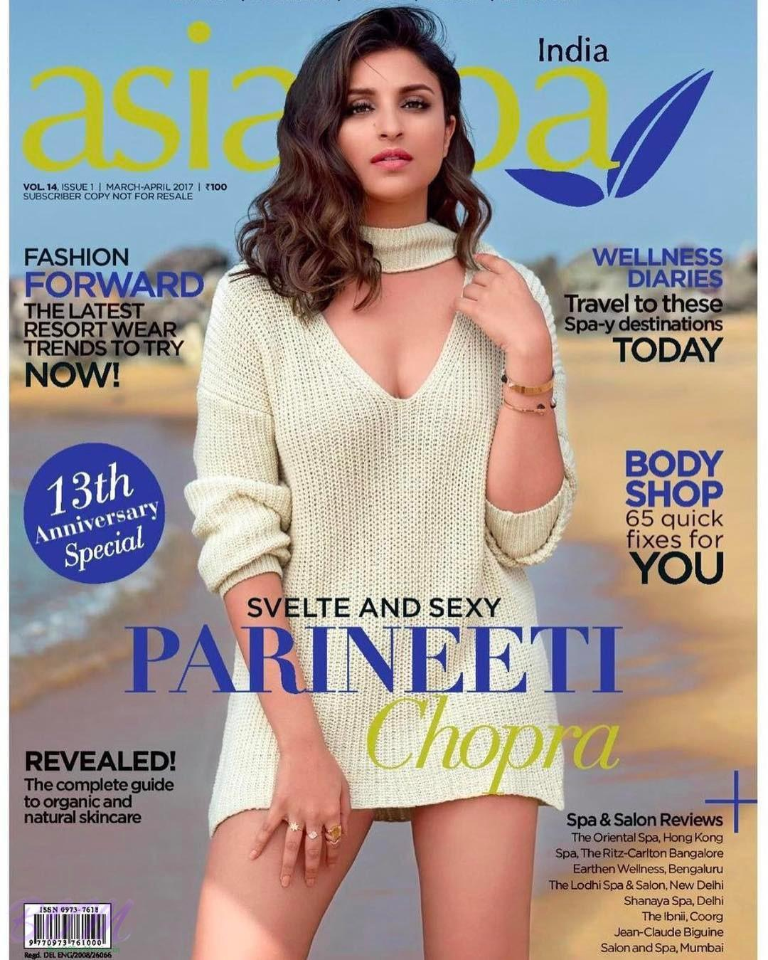 Parineeti Chopra cover girl for Magazine Asia Spa March-April 2017 issue