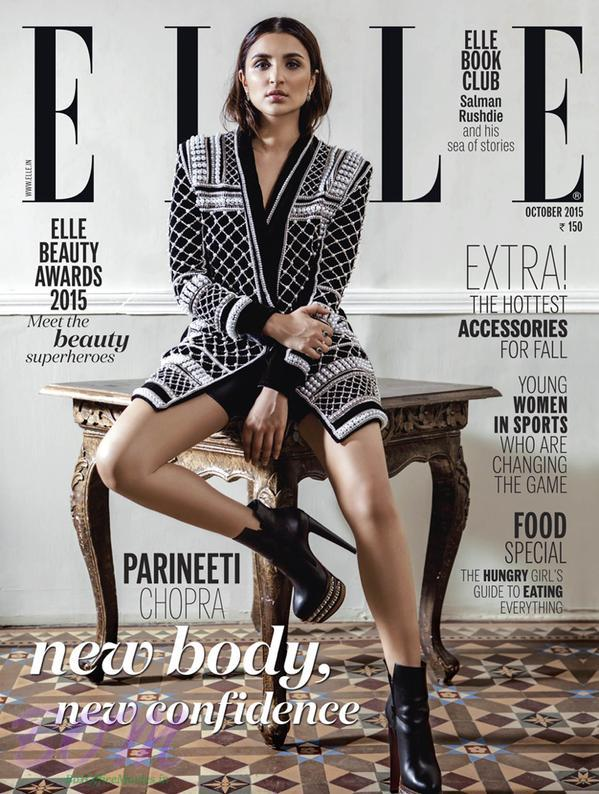 Parineeti Chopra cover girls for ELLE magazine Oct 2015 issue