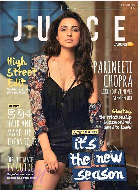 Parineeti Chopra on The Juice magazine cover page for September 2015 issue