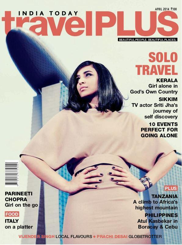 Parineeti Chopra stands tall on the cover of travelPlus magazine April 2014 Issue