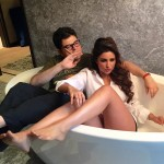 Parineeti and Dabboo Ratnani in bathtub
