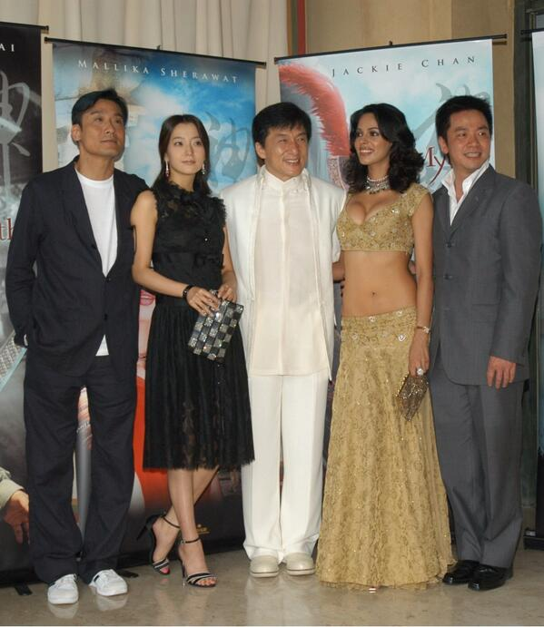 Picture of Mallika Sherawat First visit to the Cannes film festival in 2005 with Jackie Chan
