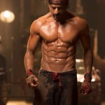 Picture of Shahrukh Khan insane body Eight Pack abs in HNY