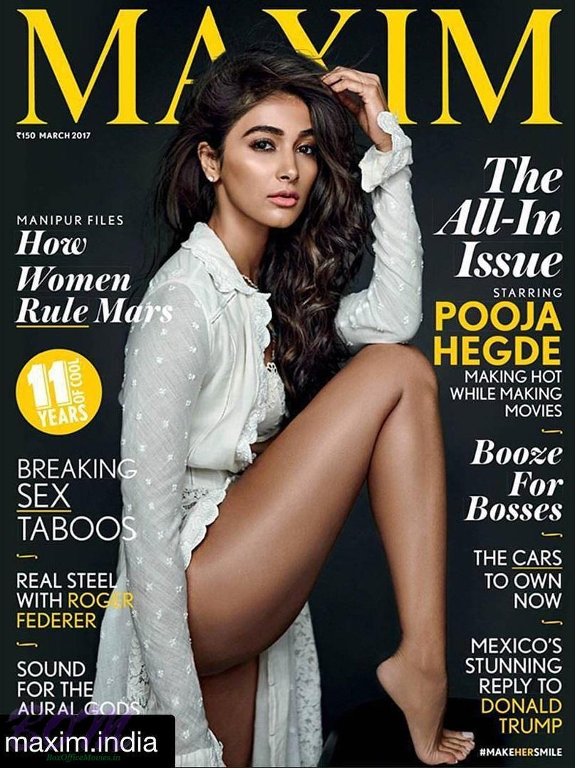 Pooja Hegde cover girl for MAXIM magazine March 2017 issue