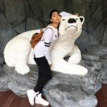Pooja Hegde cute picture with a white bear