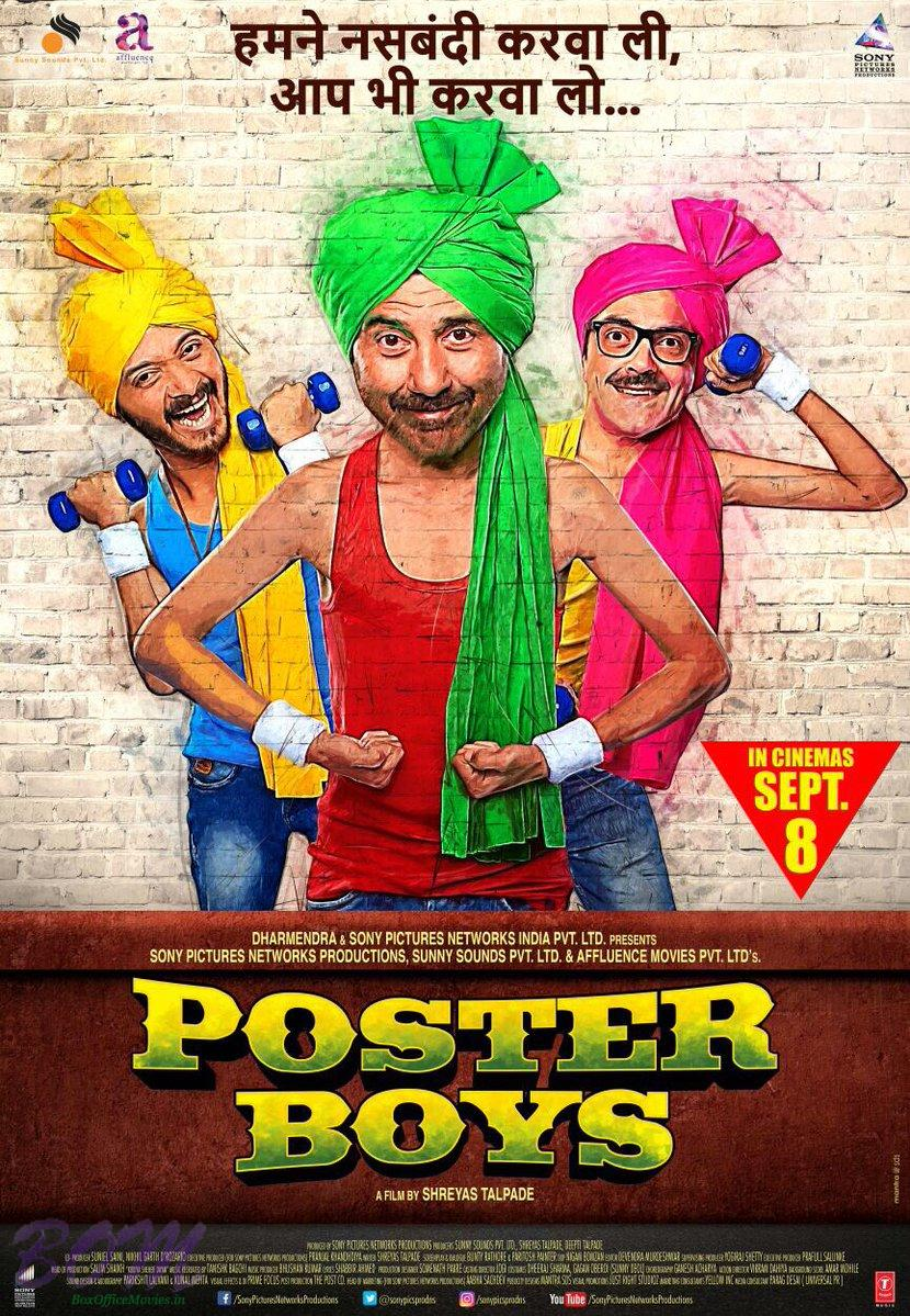Poster Boys poster starring Sunny Deol, Bobby Deol and Shreyas Talpade