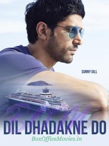 Poster of Farhan Akhtar as Sunny Gil in Dil Dhadakne Do