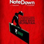 Poster of Note Down short movie by Ashok Pandit on the positive impact of demonetization
