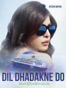Poster of Priyanka Chopra as Ayesha Mehra in Dil Dhadakne Do