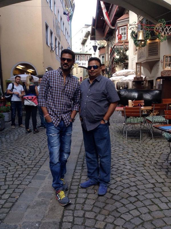 Prabhu dheva with his close friend Ganesh in Australia