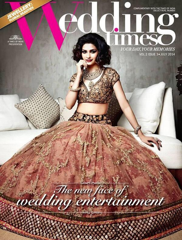 Prachi Desai at The July issue cover of Wedding Times Magazine