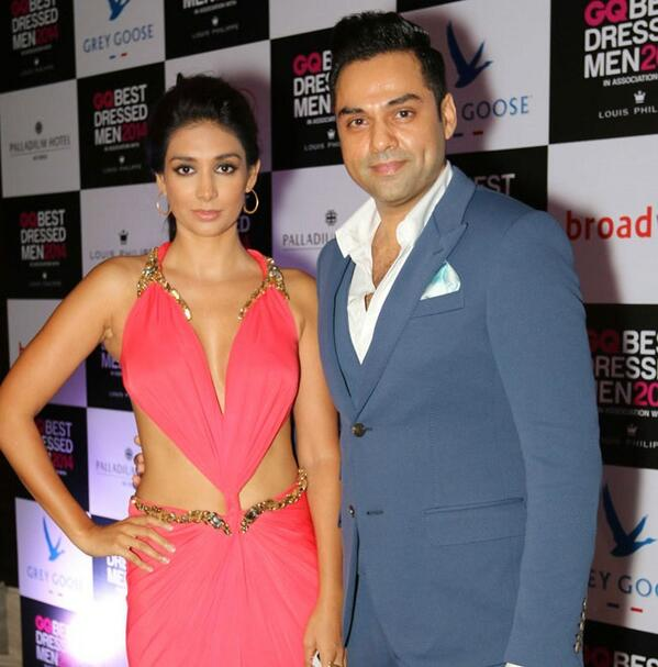 Preeti Desai and Abhay Deol at GQ Best Dressed Men party