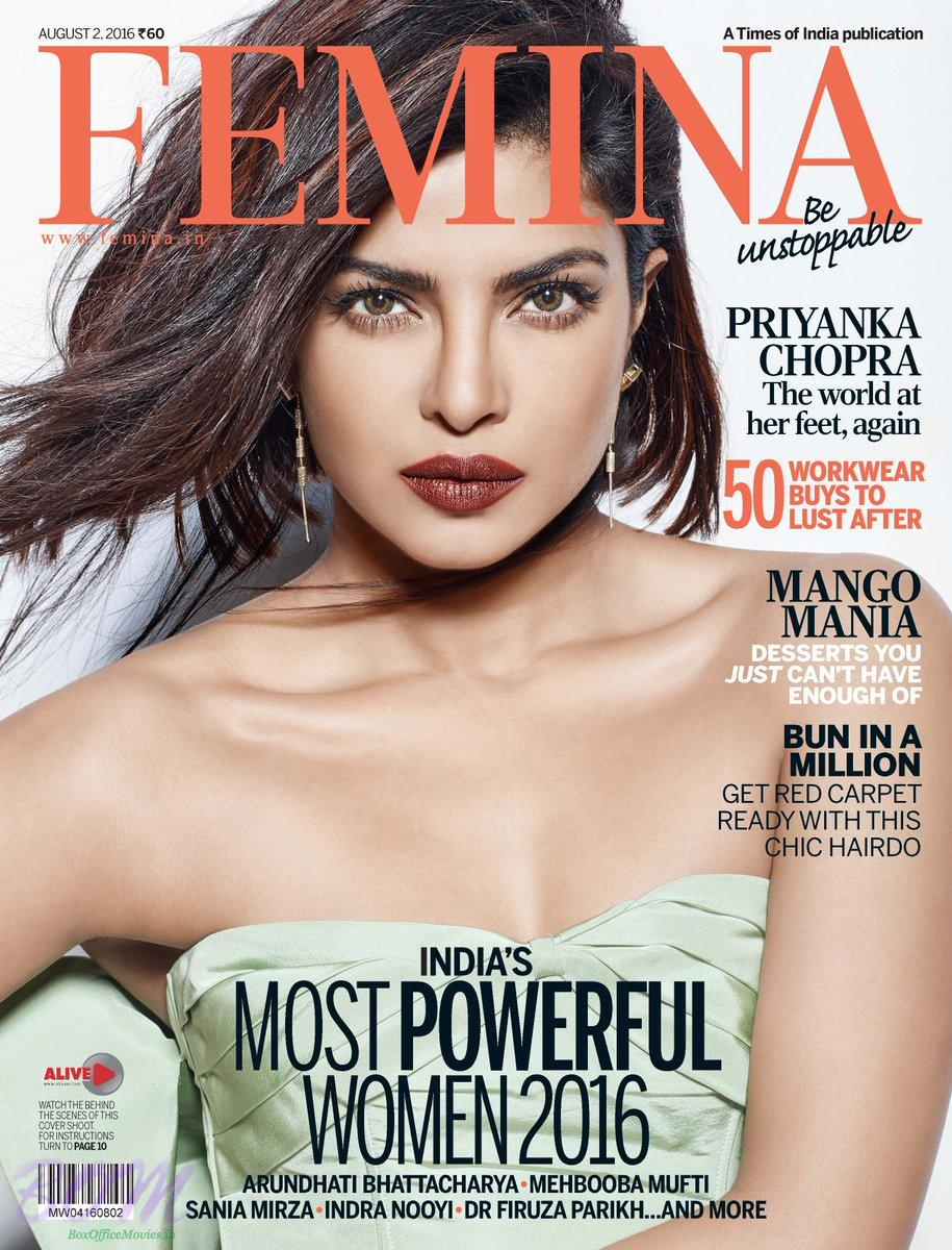 Priyanka Chopra Cover Girl for FEMINA Magazine August 2016