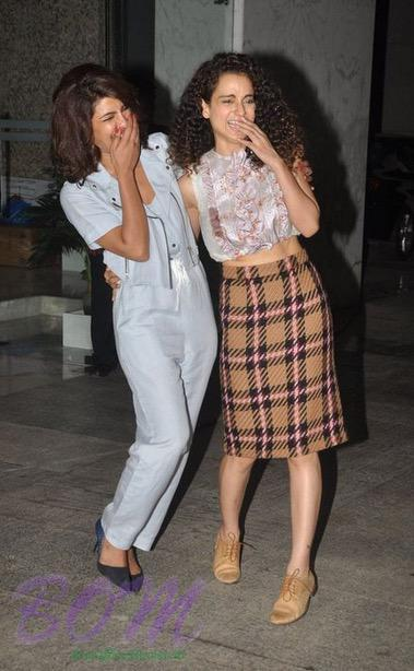 Priyanka Chopra and Kangana Ranaut party quality time together