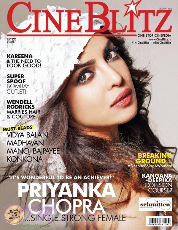 Priyanka Chopra cover girl for Cine Blitz magazine July 2015 issue