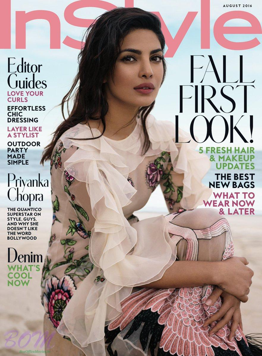 Priyanka Chopra cover girl for InStyle Magazine August 2016 issue