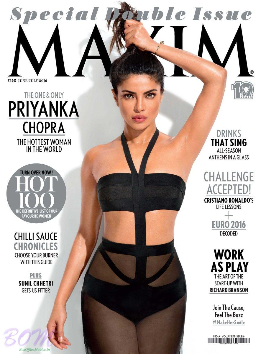 Priyanka Chopra cover girl for Maxim Magazine June-July 2016 issue