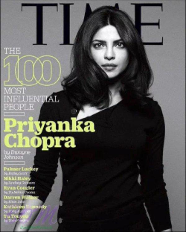 Priyanka Chopra cover girl for TIME Magazine in 2016