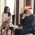 Priyanka Chopra meeting with Honorable Prime Minister Narendra Modi