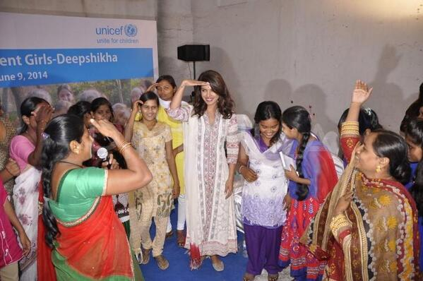 Priyanka Chopra had an awesome time with the young girls at the UNICEF event
