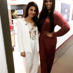 Priyanka Chopra with laverne Cox in London Town